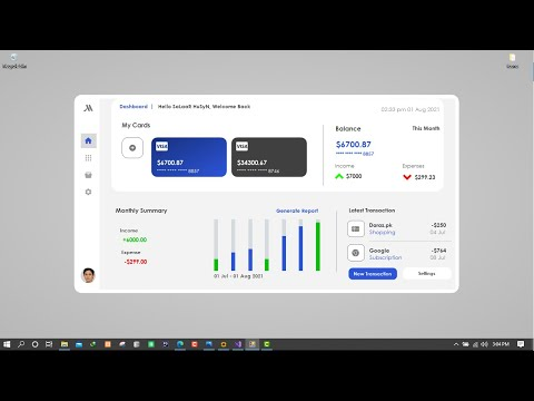 Designing a Banking Application Dashboard in C#