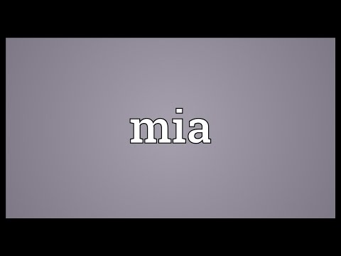 Mia Meaning