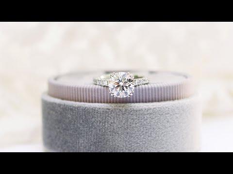 2.0ctw Custom Triple Prong Pavé Engagement Ring In Platinum   Ada Diamonds