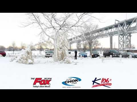 Ice  - Blue Water Bridge Sarnia January 2018 - 99.9 The Fox