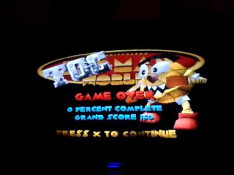 Game Over Pac Man World Youtube