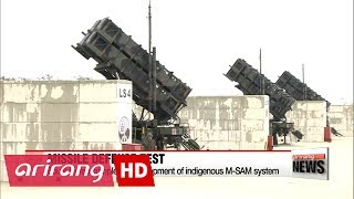 South Korea completes development of indigenous M-SAM system