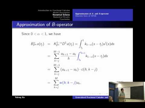 Generalized Fractional Calculus and the Application to Oscillator Equations - Yufeng Xu