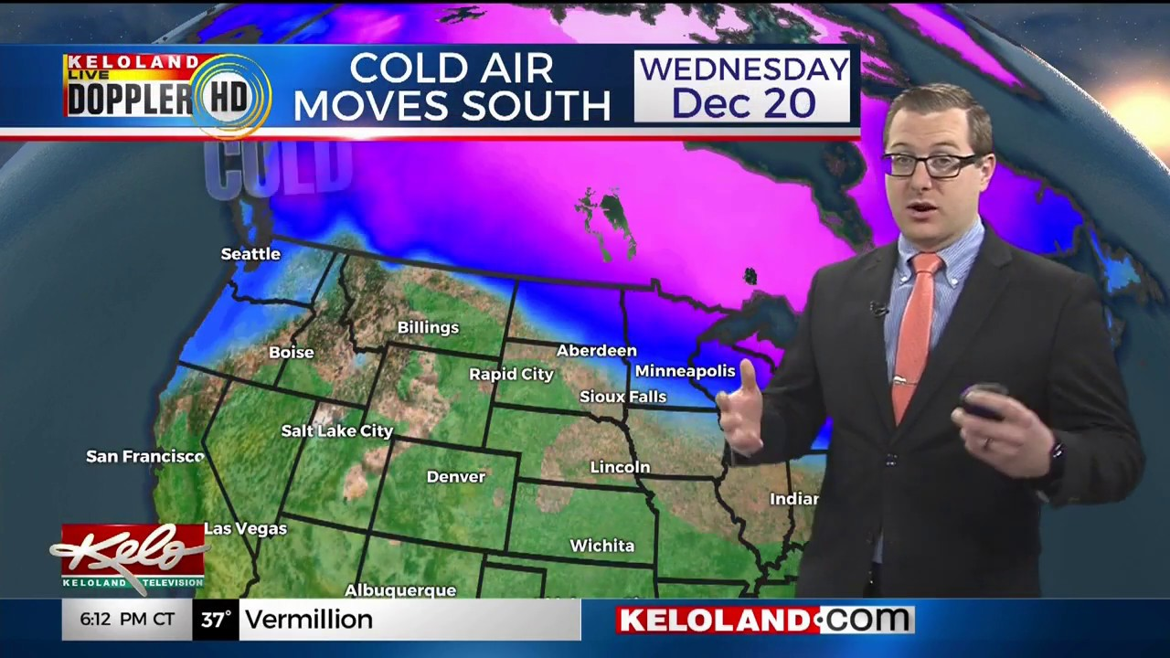 Kelo 11 Sioux Falls Sd 6 Pm Newscast Weather Segment December 16 2017