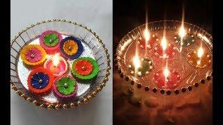 2 Quick Diwali Decoration Ideas | Floating Diya Decoration on Water | Diwali Decoration DIY