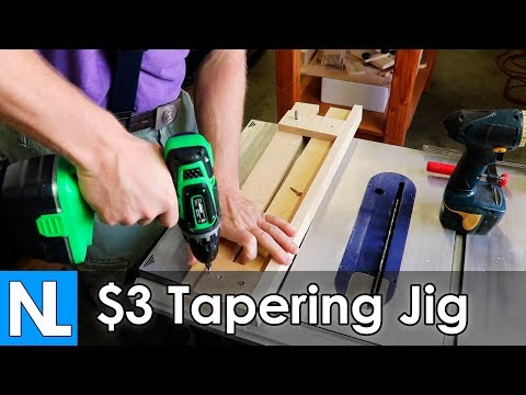 Quick Fixed Tapering Jig / simple DIY woodworking