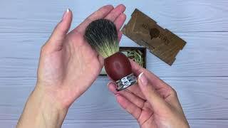 видео Помазок для бритья со стальной рукояткой