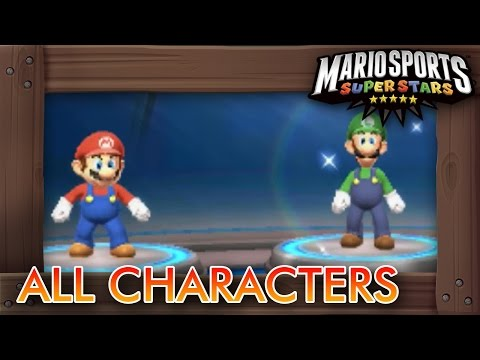 Mario Sports Superstars - All Characters