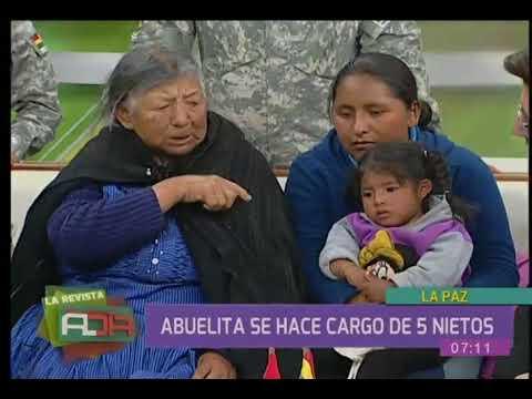 Abuelita se hace cargo de sus cinco nietos