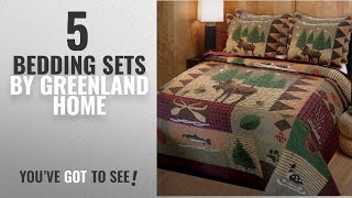Top 10 Greenland Home Bedding Sets [2018]: Greenland Home Moose Lodge Quilt Set, Full/Queen