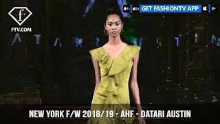 New York Fashion Week Fall/Winter 18 19 - Art Hearts Fashion - Datari Austin | FashionTV | FTV