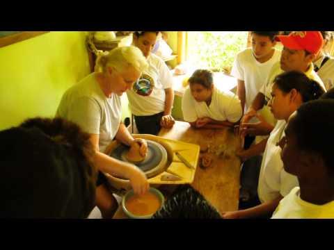 Children of Utila  Sharon Taylor teaches the 8th grade class pottery