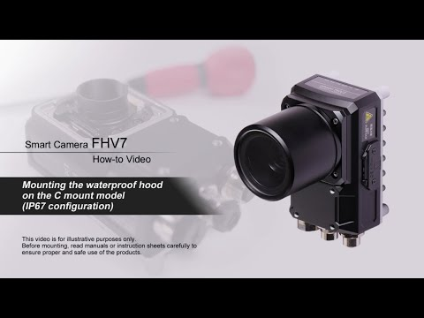 FHV7 How-to Video : Mounting the waterproof hood on the C mount model
