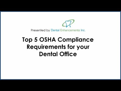 Top 5 OSHA compliance requirements for your dental office