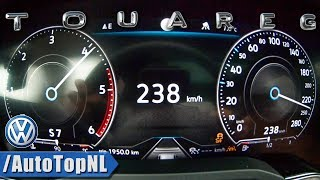 VW Touareg 2019 3.0 V6 TDI 286HP R-Line ACCELERATION 0-238km/h TOP SPEED by AutoTopNL