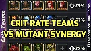 Synergy Team Comparisons Part 1 Marvel Contest of Champions