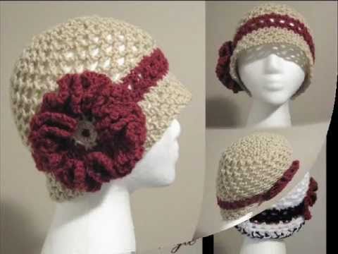 Vintage Style Crochet Cloche Hats - YouTube