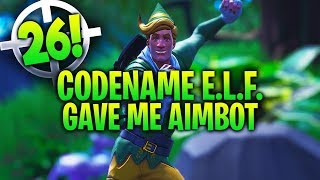CODENAME E.L.F. gave me AIMBOT... (26 Kill Win) - Fortnite Battle Royale