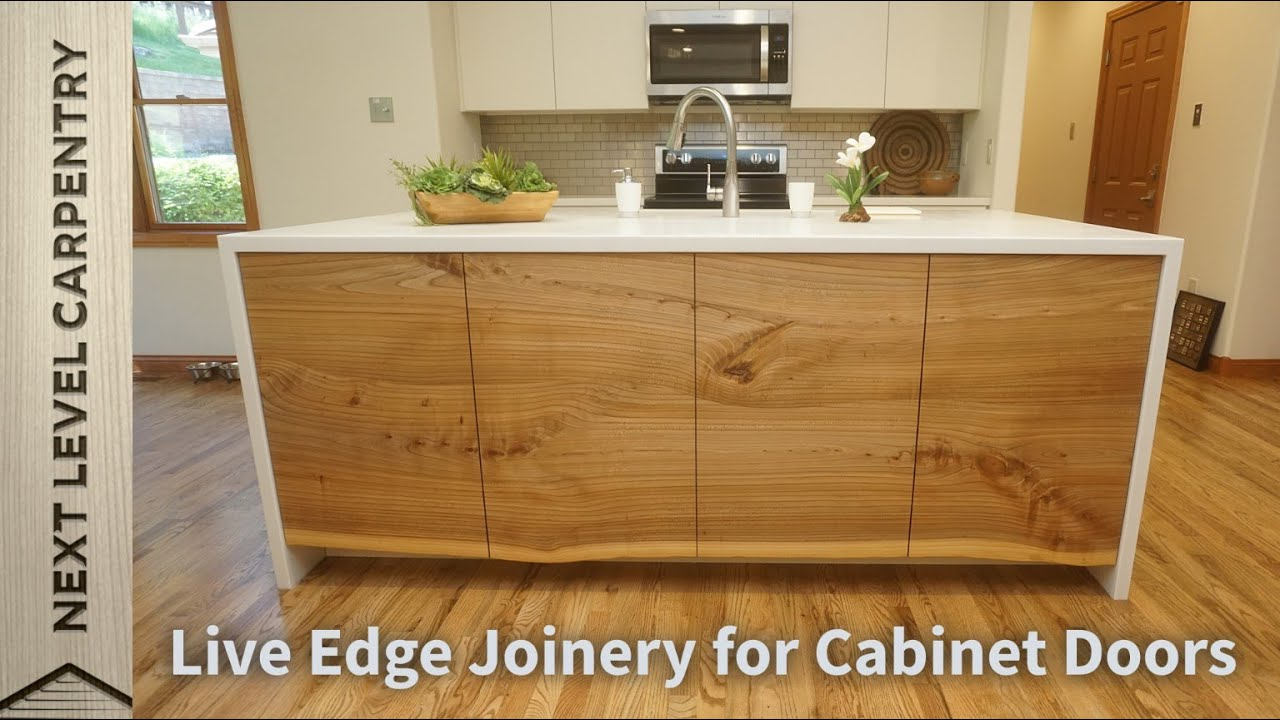 Live Edge Joinery for Cabinet Doors
