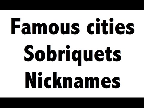 World's famous cities and their Nicknames - Sobriquets - Static GK