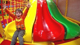 Fun Indoor Playground for Kids and Family | Play Center Slides Playroom with Balls and TimKo Kid