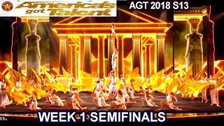 Zurcaroh Acrobatic Group A SHOW STOPPER  & INCREDIBLE  Semifinals 1 America's Got Talent 2018 AGT