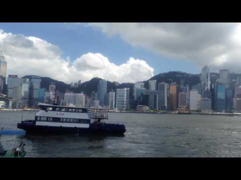 Victoria harbour view from Kowloon - Hong Kong