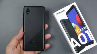 Samsung Galaxy A01 Core Black unboxing, camera, antutu, gamming test
