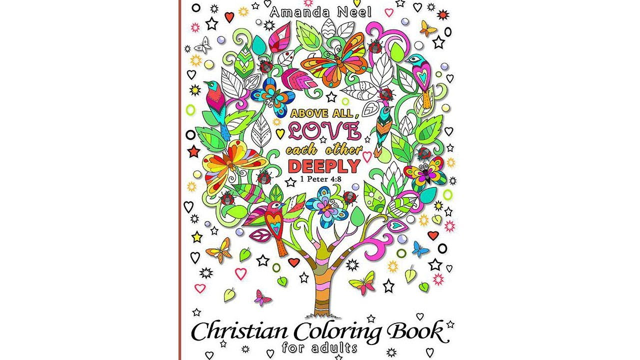 Christian Colouring Book for Adults Flip Through