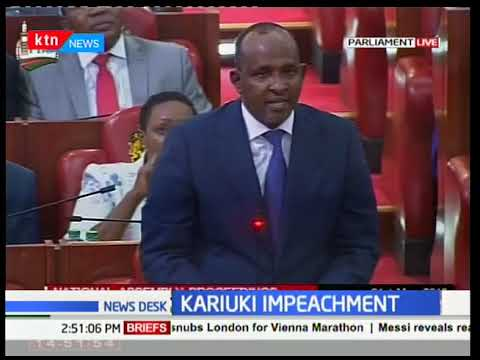 Developing Story: Mps debate motion to impeach health Cabinet Secretary