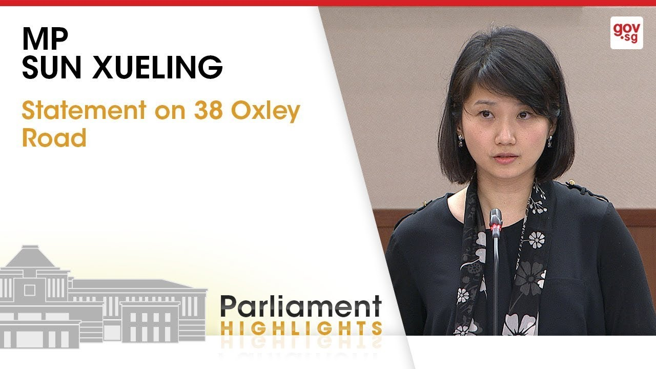 Mp Sun Xueling S Statement On 38 Oxley Road Youtube
