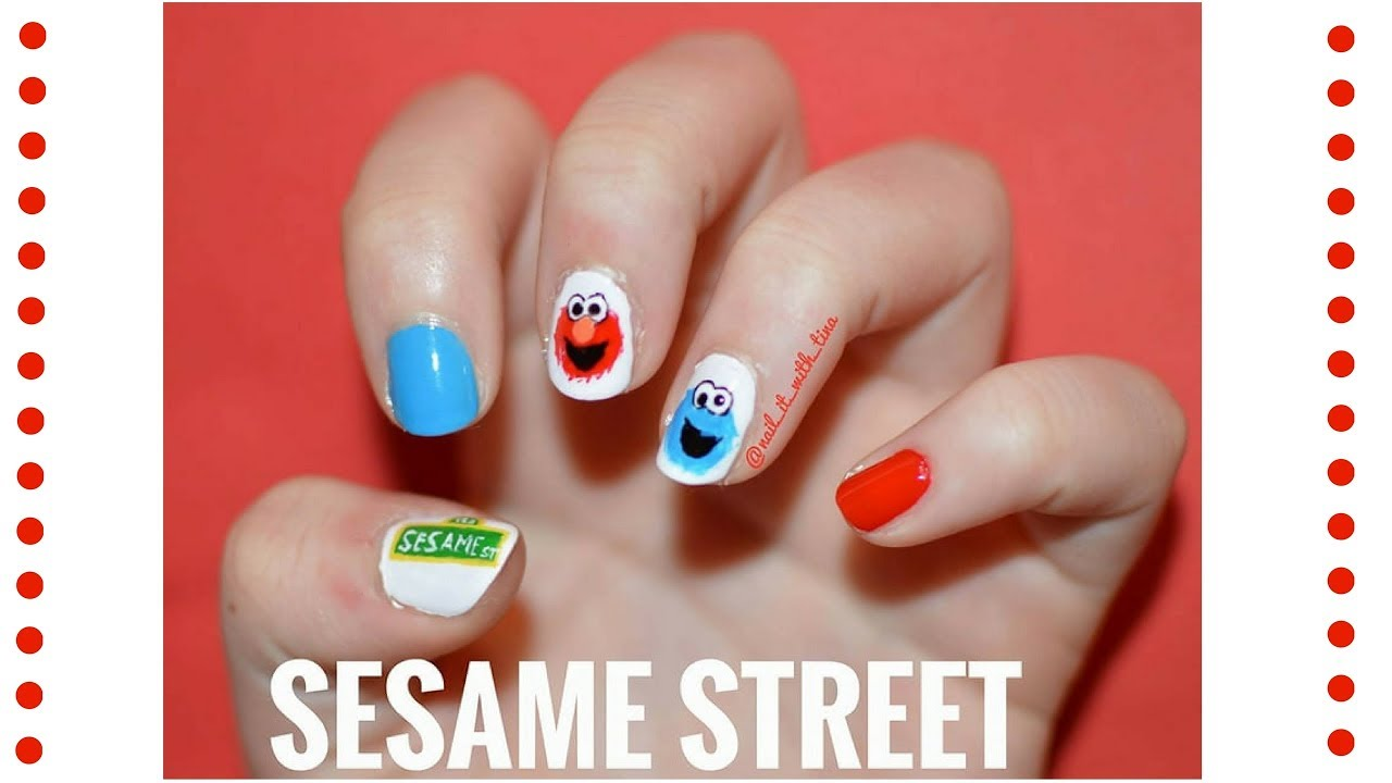Nail Art Tutorial Sesame Street Nails Nail It With Tina Youtube
