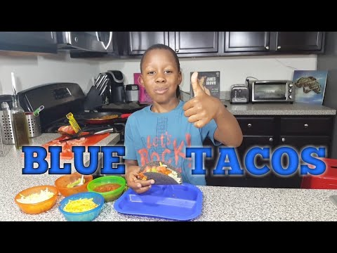 How to Make Blue Vegetarian Tacos