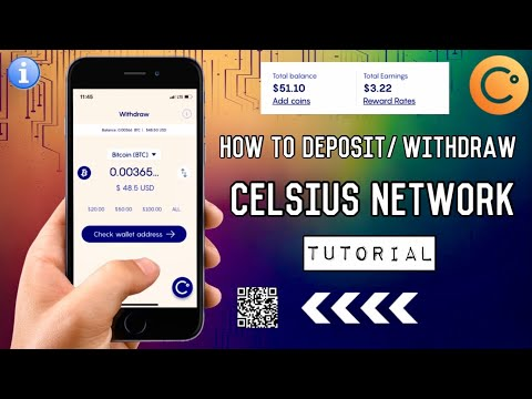 How To DEPOSIT Or WITHDRAW On CELSIUS NETWORK App   Bitcoin Wallet Tutorial