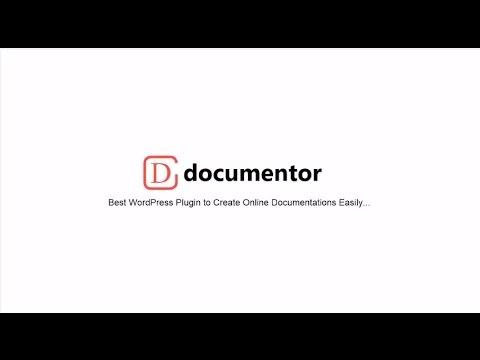 Documentor - WordPress Plugin To Create Online Documentation Easily