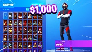 Mon 1000 $ Fortnite LOCKER SHOWCASE! (Plus de 100 peaux)