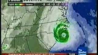 Wilmington, NC. Hurricane Ophelia local forecast: Clip 2