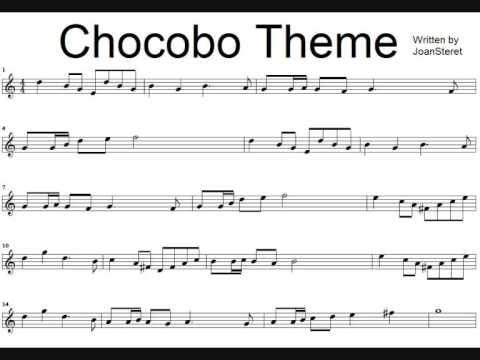Chocobo Theme recorder sheet music!