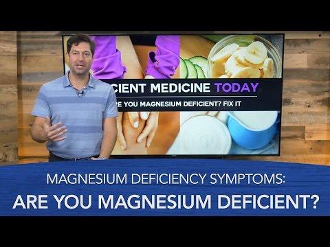 Magnesium Deficiency Symptoms: Are You Magnesium Deficient?