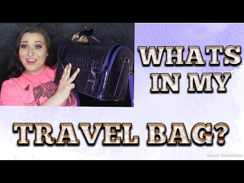 WHAT'S IN MY TRAVEL BAG? | CRATE CON 2018 | MAKEUP FLO