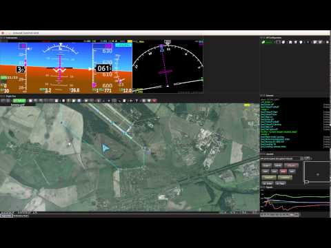 Ground Control Unit by Uavos in work (real autopilot flight)