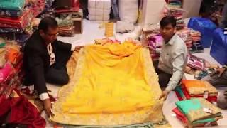 latest designer rehsam and zari work silk saree for wedding and bridal partys30
