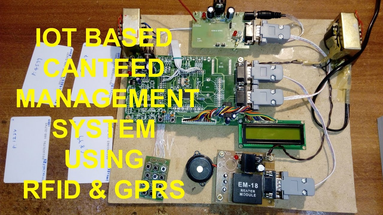 IOT Based Project: RFID Canteen Management System