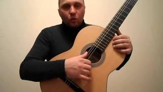 Простая мелодия на гитаре для начинающих.Урок