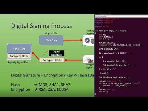 Hashing Encryption Decryption Digital Signature Signing Verification Openssl Pkcs7