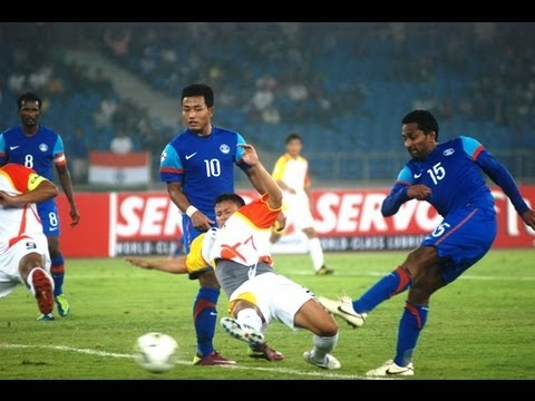 Bhutan vs India (Highlights) SAFF Championship 2011