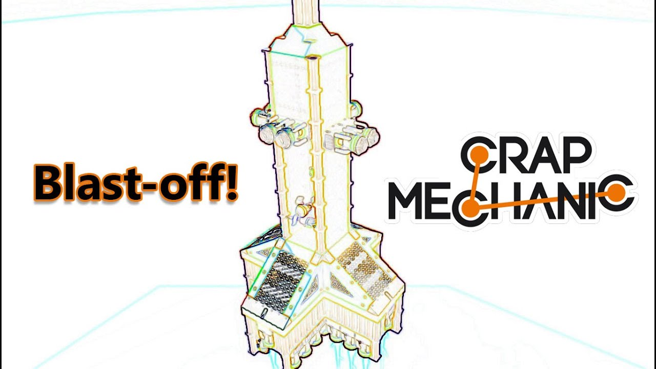 scrap mechanic space ship or rocket ship launch blast off