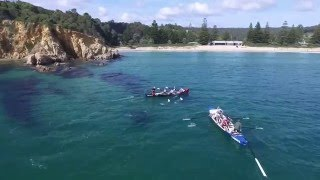 Tathra Surf Boats with drone