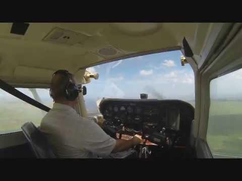 Last flight as student pilot!