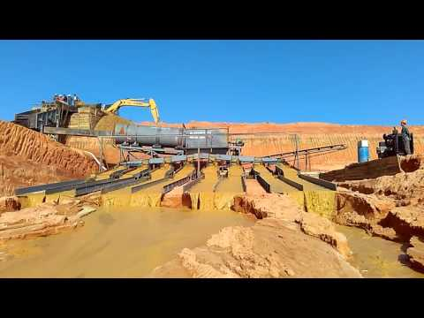 Dry land gold washing (recovery) plant in Madagascar--(whatsapp_0086-18363682790)